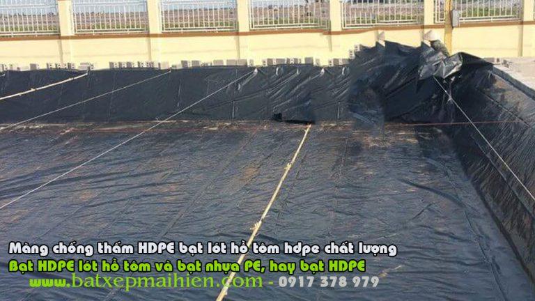 Nên Làm Túi Bạt Nhựa HDPE Chứa Nước Hay Bể Bạt Nhựa PVC Trong Hồ Chứa Nước Nhiễm Mặn